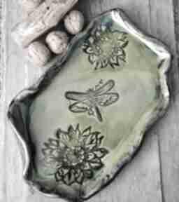 Patera ceramiczna c158 ceramika shiraja patera, talerz, ważka
