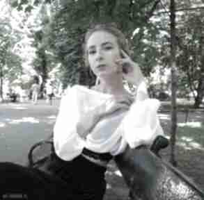 Biała mgiełka: bluzka szyfonowa bluzki barska bluzka, mgiełka