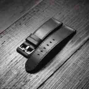 Męski pasek do zegarka skórzany z włoskiej skóry buttero ciemny