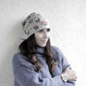Czapka w alpaki lamy szara unisex czapki godeco czapka, kolorowa