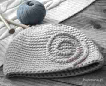 Czapka handmade czapki hermina hand made, zimowa czapka