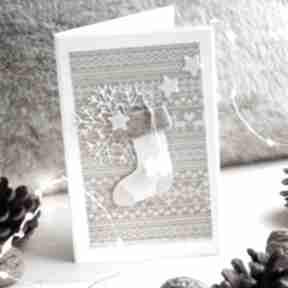 Prezenty święta? Kartka ze skarpetą scrapbooking kartki annamade
