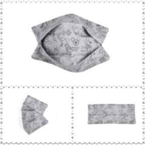 Maseczka bawełniana, dwuwarstwowa z drucikiem i miejscem