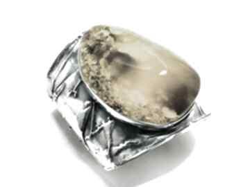 Duża bransoleta z bursztynem bałtyckim srebro 925 mychoice