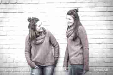 Gruby sweter z kominem - arthermina swetry hermina zimowy