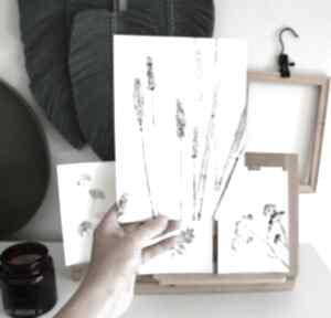 6 x odbitka rośliny dekoracje wooden love print, roślina, motyw