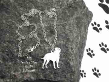 Bullmastiff srebro próby 925 naszyjnik nr 94 naszyjniki