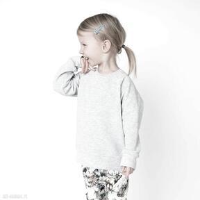 Bluza dresowa szara mamaiti basic, gładka, bawełniana