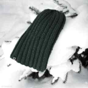 Czapka ściągaczowa - butelkowa zieleń czapki barska czapka