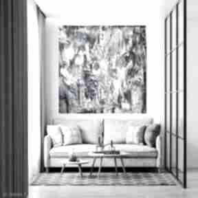 Obraz na płótnie ręcznie malowany 90x90 byferens duży obraz