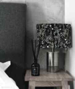 Abażur, klosz czarny na lampę kwiaty lampidarium