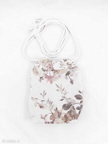 Torebka sakiewka kwiaty vintage mini zapetlona nitka torebka