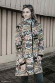 Kurtka parka, płaszcz damski, przeciwdeszczowy płaszcze tummi