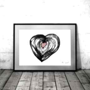 Grafika 123 - serce maja gajewska do domu, na prezent, rysunek
