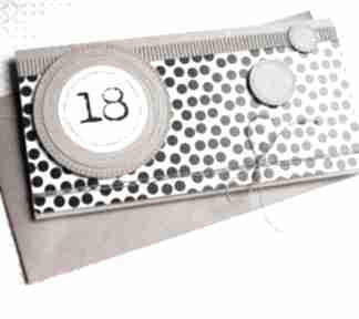 Kartka-kopertówka:: 18-te urodziny:: b&w kartki kaktusia