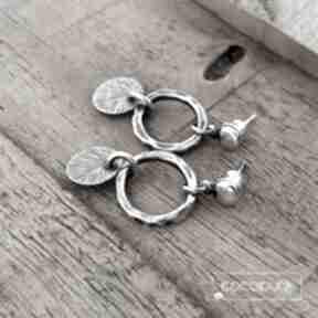 Kolczyki wiszące srebro 925 - codzienne, nowoczesne cocopunk