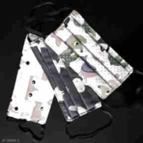 Pakiet 3 sztuki maseczka kolrowa mix zwierzaki ochronna maska