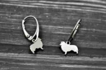 Owczarek szetlandzki sheltie - kolczyki pasja i pedzlem pies