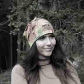 Czapka w jesienne liście unisex kolorowa czapki godeco czapka