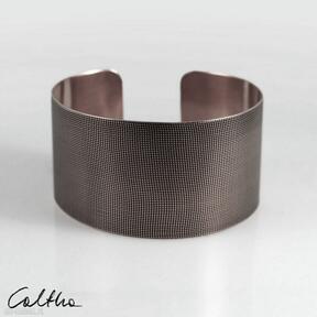 Płótno - miedziana bransoletka 151026 -01 caltha bransoletka