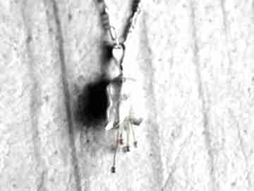 925 srebrny łańcuszek mini dzwoneczek kwiat natura zawieszka