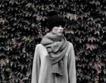 Gruby szal szary szaliki hermina szalik męski, ciepły z-wełny