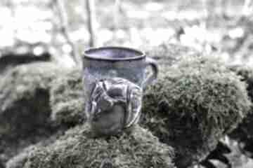 Handmade ceramiczny duży kubek z koniem - opal 400 ml kubki