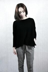 Oversize luźny sweter bluzki hermina damski sweter, unikatowy