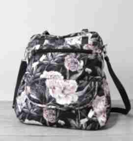 Pomysły na prezenty święta! Plecak torba listonoszka - piwonie