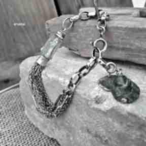 Szkło afgańskie - bransoletka 02 arvena afgańskie, srebro 925