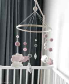 Karuzela nad łóżeczko - filcowe chmurki pokoik dziecka