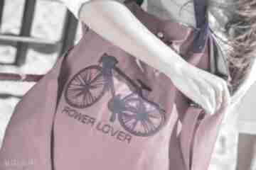 Rower lover fuksja na ramię pracownia mana torba, fuksja,