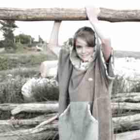 Mimi Monster: szlafrok-dziecięcy poncho-bawełniane