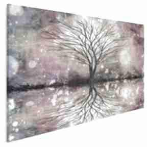 Obraz na płótnie - drzewo kolorowy 120x80 cm 64901 vaku dsgn