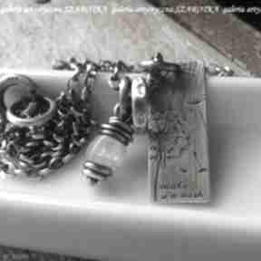 Pomyśl życzenie naszyjnik z kamienia księżycowego i srebra