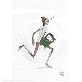 Pinokio print a4 lapatiq pinokio, plakat, digitalpainting