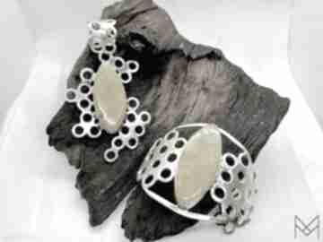 MyChoice. Komplet biżuterii srebrnej z bursztynem srebro
