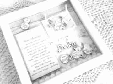 Chrzest chrzciny metryczka prezent podziękowania chrzestnym