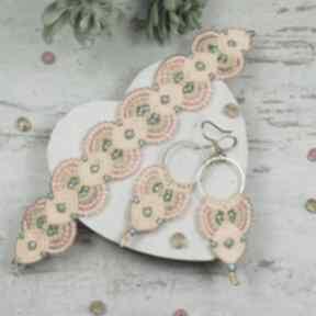Sunny - kolorowy komplet biżuterii z koralików kameleon kolorowa