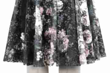 Koronkowa spódnica z koła spódnice rustic city spódnica, w róże,