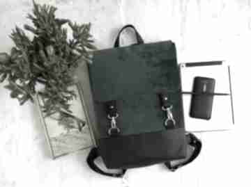 Plecak z weluru fabrykawis na laptopa, damski plecak, do pracy