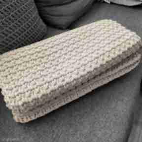 Narzuta na łóżko 200x50cm handmade sznurek bawełniany szydełko