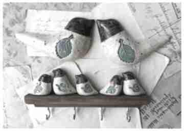 Zestaw z ptaszkami na ścianę ceramika wylegarnia pomyslow