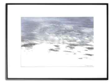Grafika w ramie z passe-partout kolor morza 40x30 renata