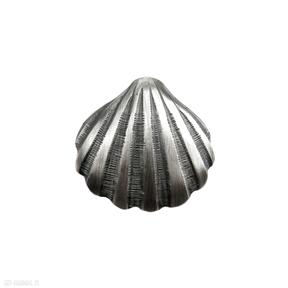 Muszelka duża szara - zawieszka srebrna wisiorki venus galeria