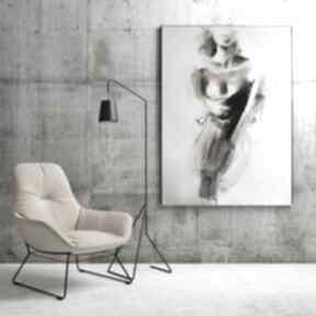 Grafika kobieta dom galeria alina louka duży obraz do salonu