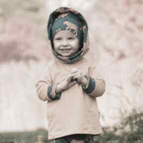 Bluza dla dziecka z komino-kapturem rysie 80 86, 92 98, 104 110