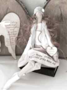 lalki. Anioł pamiątka Pierwszej Komunii Świętej Chrztu