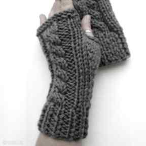 Rękawiczki mitenki the wool art rękawiczki, mitenki, szare