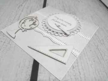 Szaro-różowo dla wyjątkowej nauczycielki scrapbooking kartki the